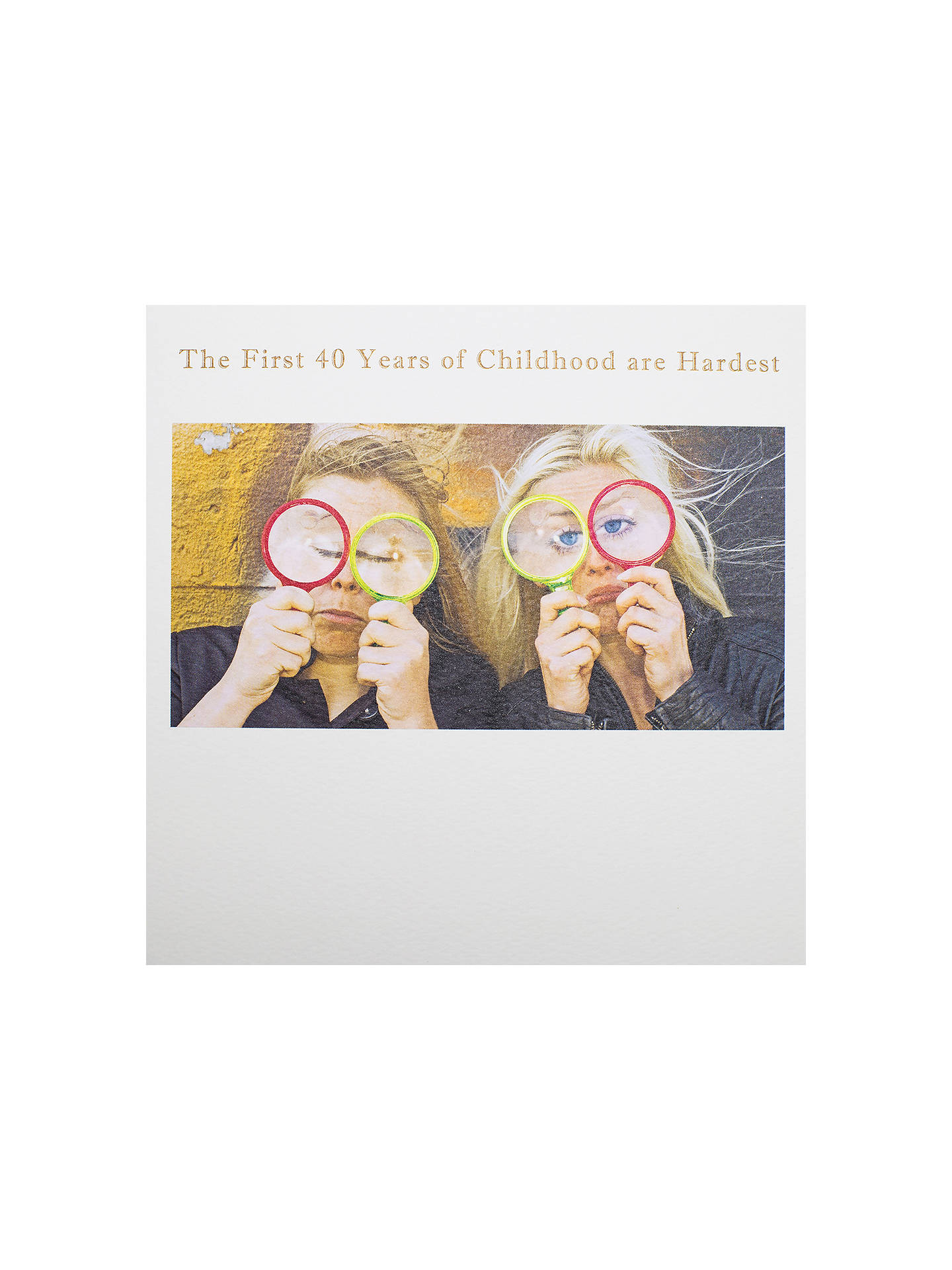 Buy Susan OHanlon The First 40 Years Birthday Card Online At Johnlewis