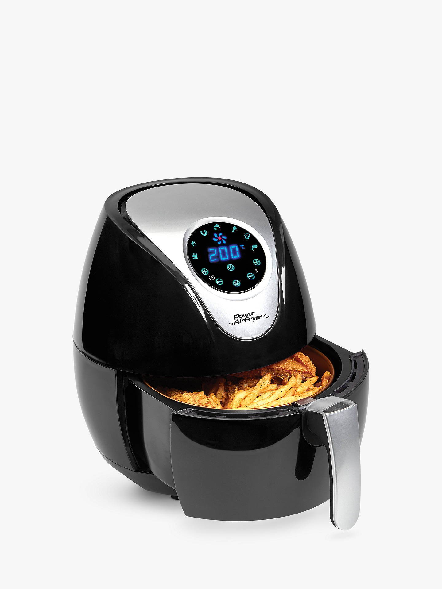 BuyPower Air Fryer XL 5L, Black Online at johnlewis.com