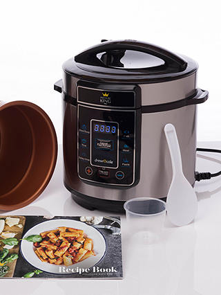 Buy Pressure King Pro 3L Digital Pressure Cooker, Black/Chrome Online at johnlewis.com
