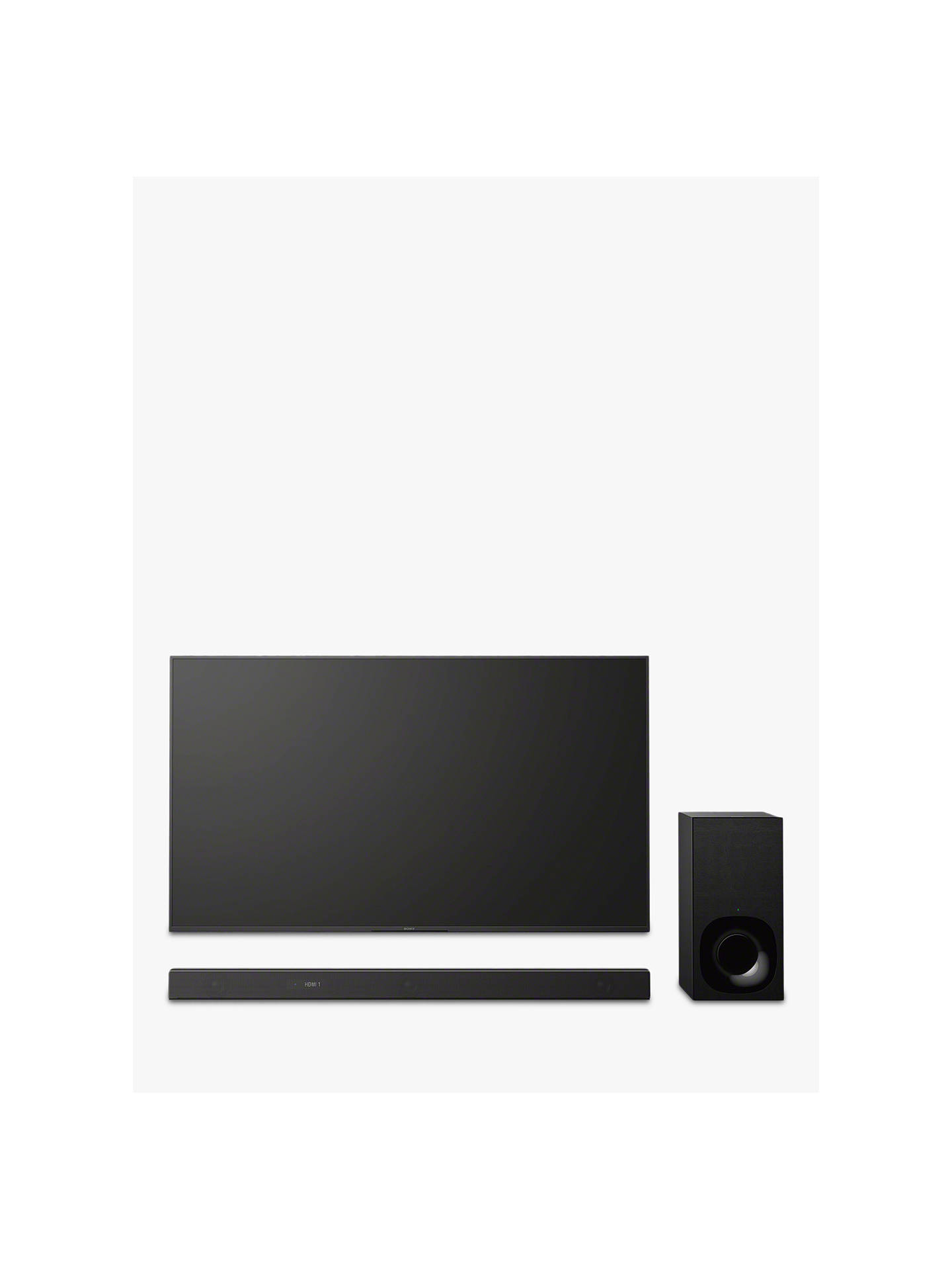 Buy Sony HT-ZF9 Wi-Fi Bluetooth Sound Bar with Dolby Atmos, DTS X, Vertical Surround Engine, High Resolution Audio & Wireless Subwoofer Online at johnlewis.com