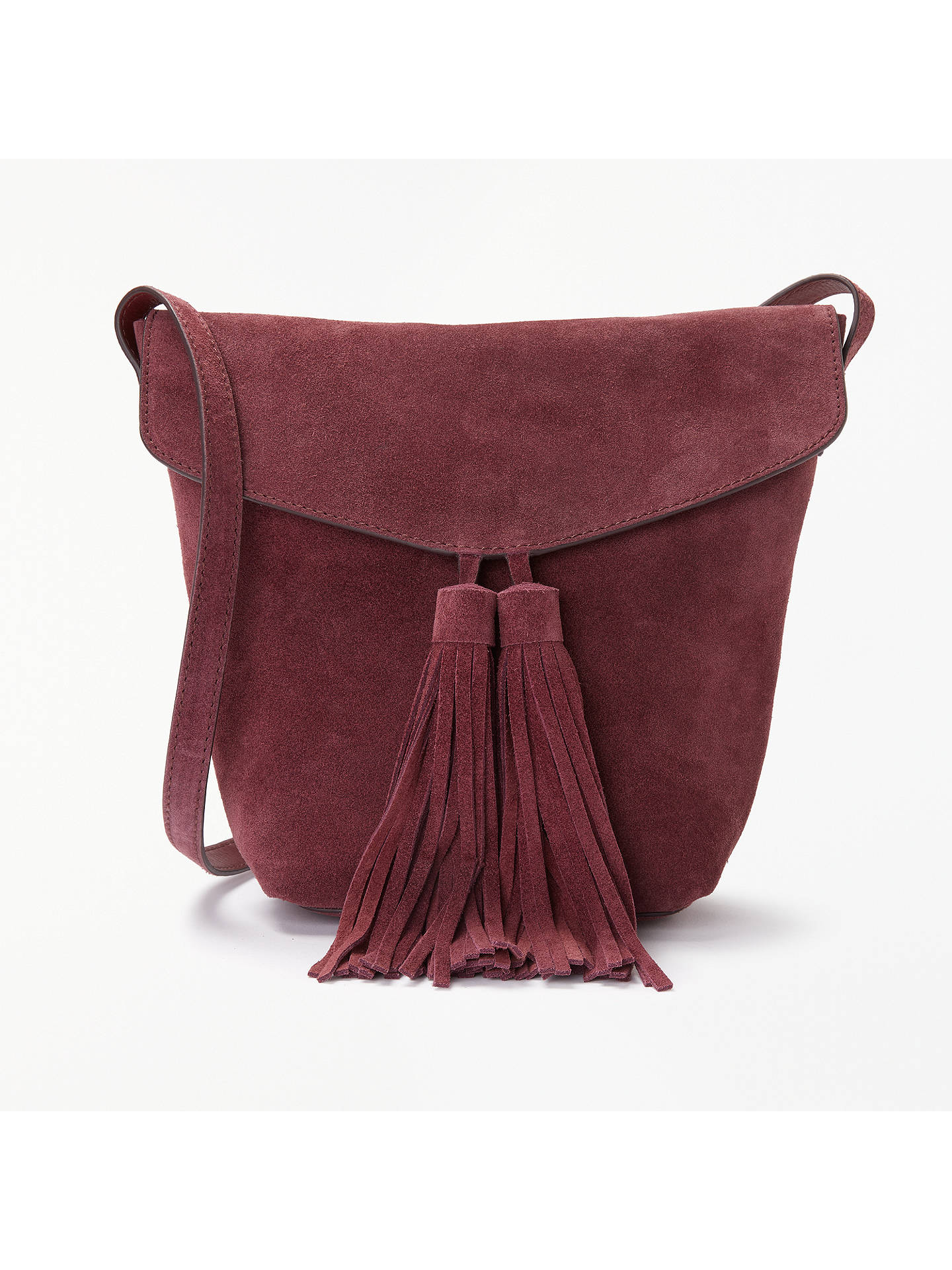 8b9788ed9ee8 AND OR Mila Suede Flapover Tassel Cross Body Bag at John Lewis ...