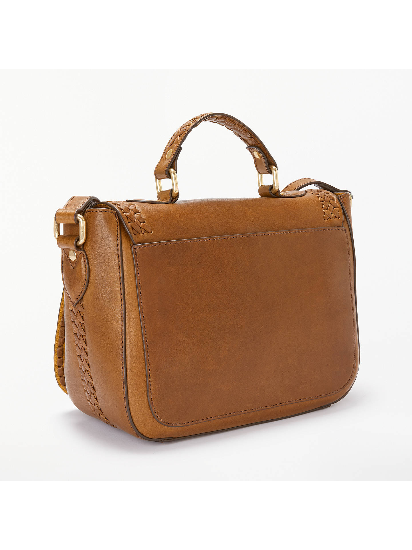 5226e12f67f ... Buy AND OR Isabella Leather Whipstitch Saddle Bag