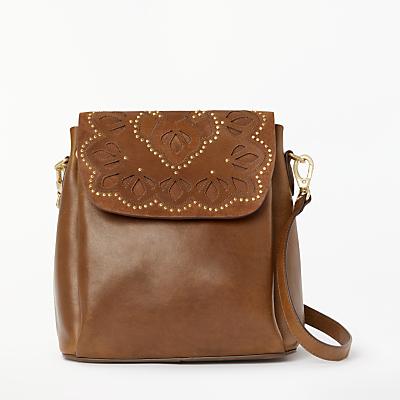 AND/OR Isabella Leather Cutwork Backpack Shoulder Bag