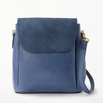 AND/OR Isabella Leather Mini Backpack Shoulder Bag, Denim Blue