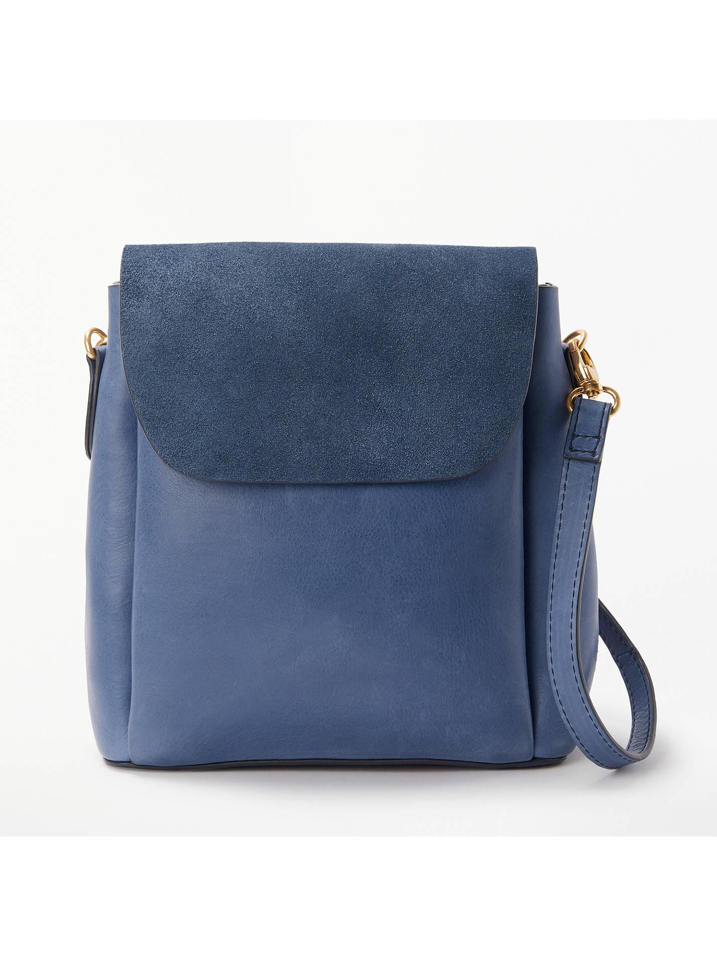 BuyAND OR Isabella Leather Mini Backpack Shoulder Bag, Denim Blue Online at  johnlewis. 8657959c3e