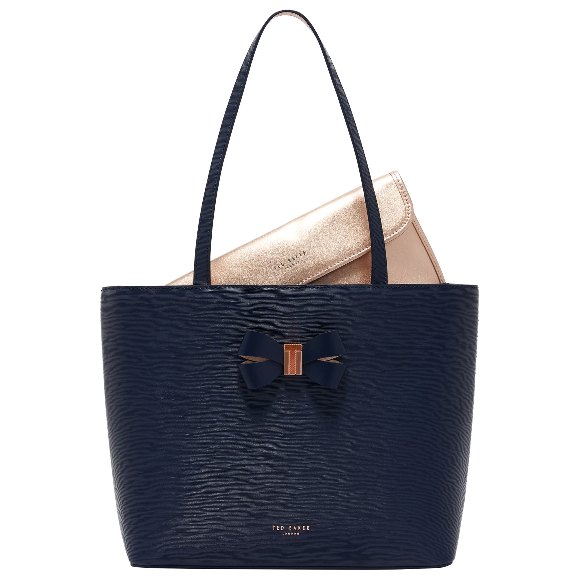 6a2436dac Ted Baker Bowmisa Leather Small Shopper Bag at John Lewis   Partners