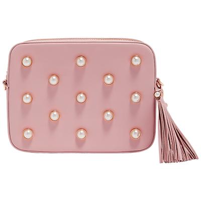 Ted Baker Alessia Leather Embellished Camera Bag, Dusky Pink