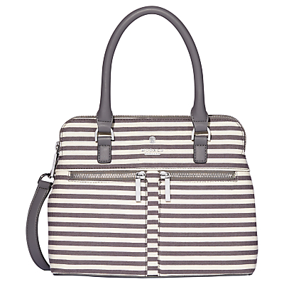 Modalu Pippa Classic Mini Grab Bag, Grey Stripe