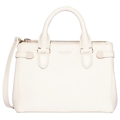 Modalu Emerson Leather Mini Grab Bag, White Choc