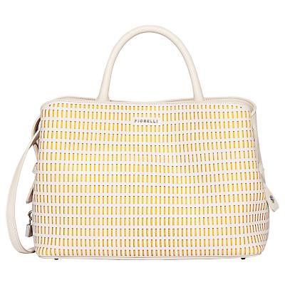 Fiorelli Bethnal Triple Compartment Grab Bag, White Lemon