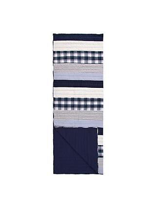 little home at John Lewis Keswick Patchwork Quilt, Midnight Blue