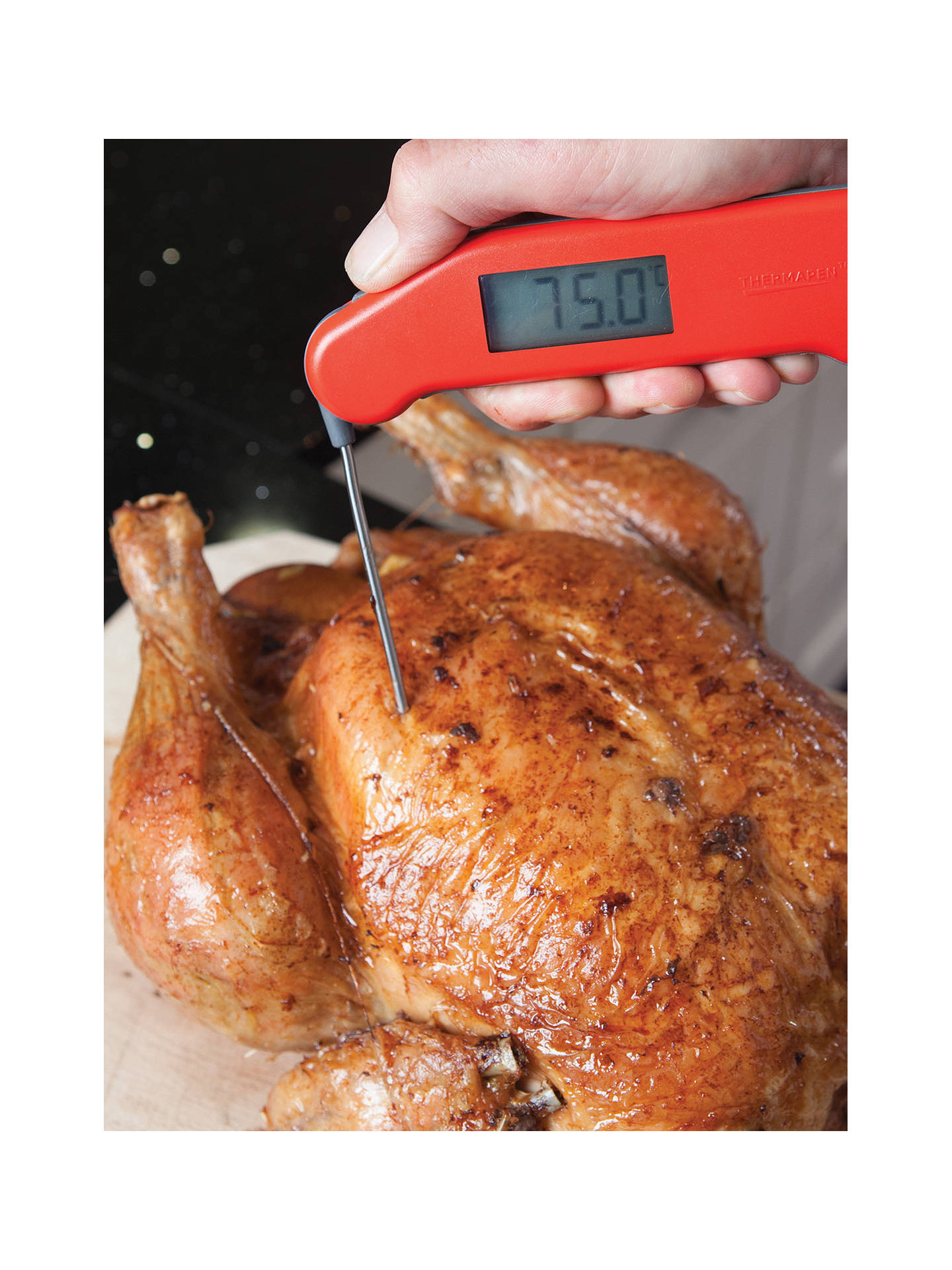 BuyThermapen 3 Classic SuperFast Food Thermometer, Red Online at johnlewis.com