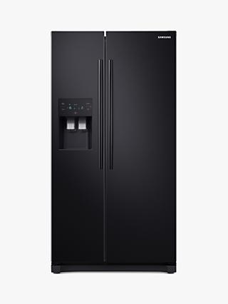 Samsung RS50N3413BC American-Style Freestanding 65/35 Fridge Freezer, A+ Energy Rating, 91cm Wide, Black