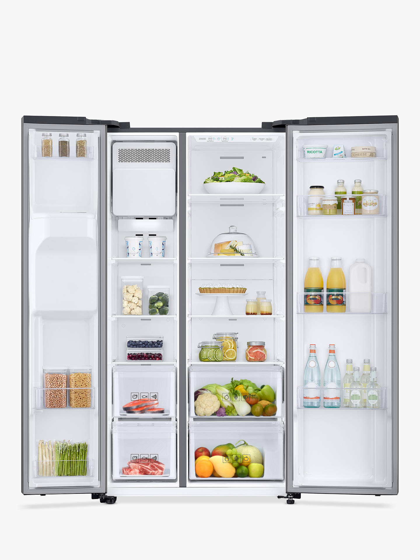 Buy Samsung RS67N8210S9 American-Style Freestanding 65/35 Fridge Freezer, A+ Energy Rating, 91cm Wide, Stainless Steel Online at johnlewis.com