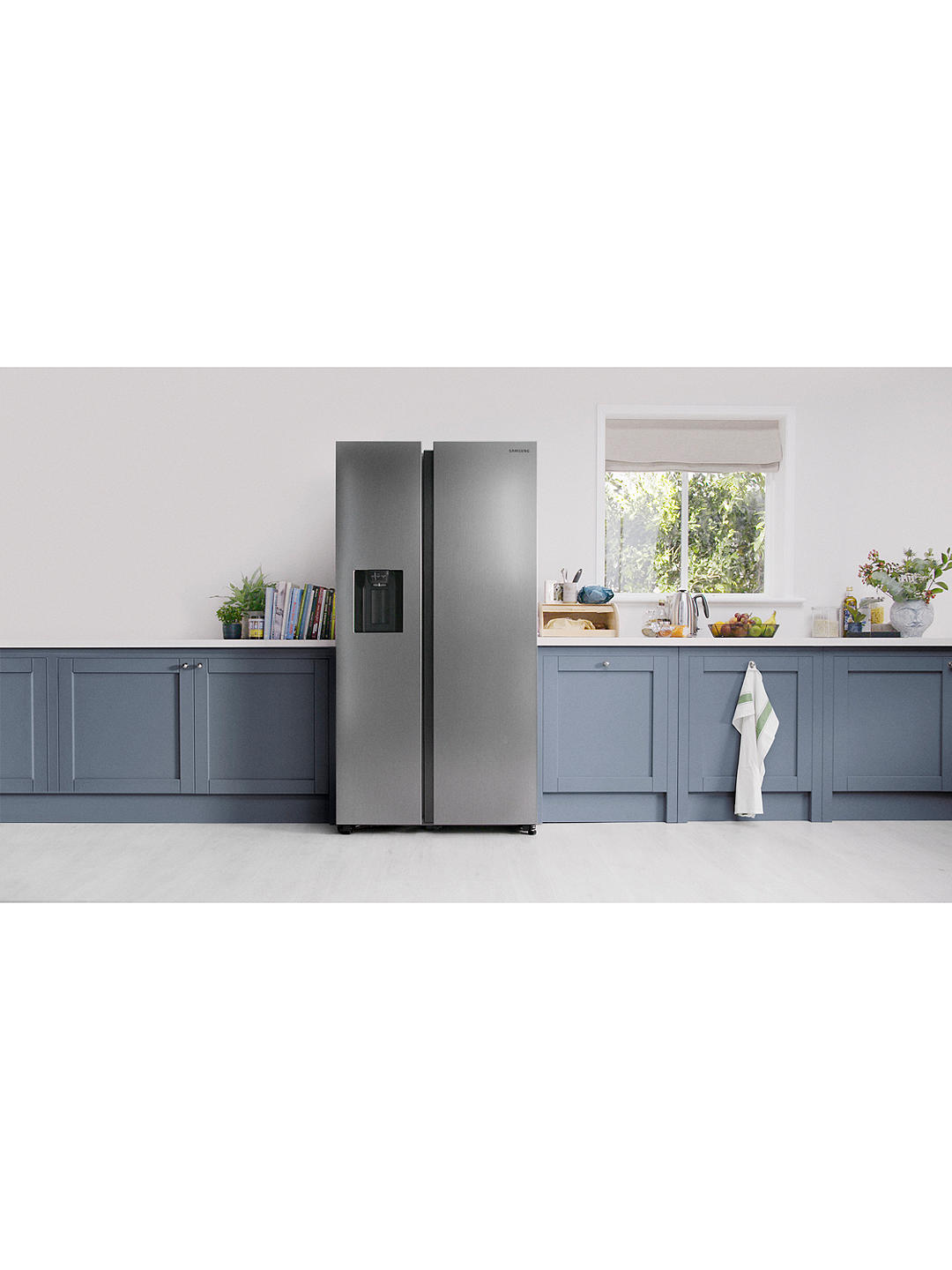 Buy Samsung RS68N8220S9 American-Style Freestanding 65/35 Fridge Freezer, A+ Energy Rating, 91cm Wide, Stainless Steel Online at johnlewis.com