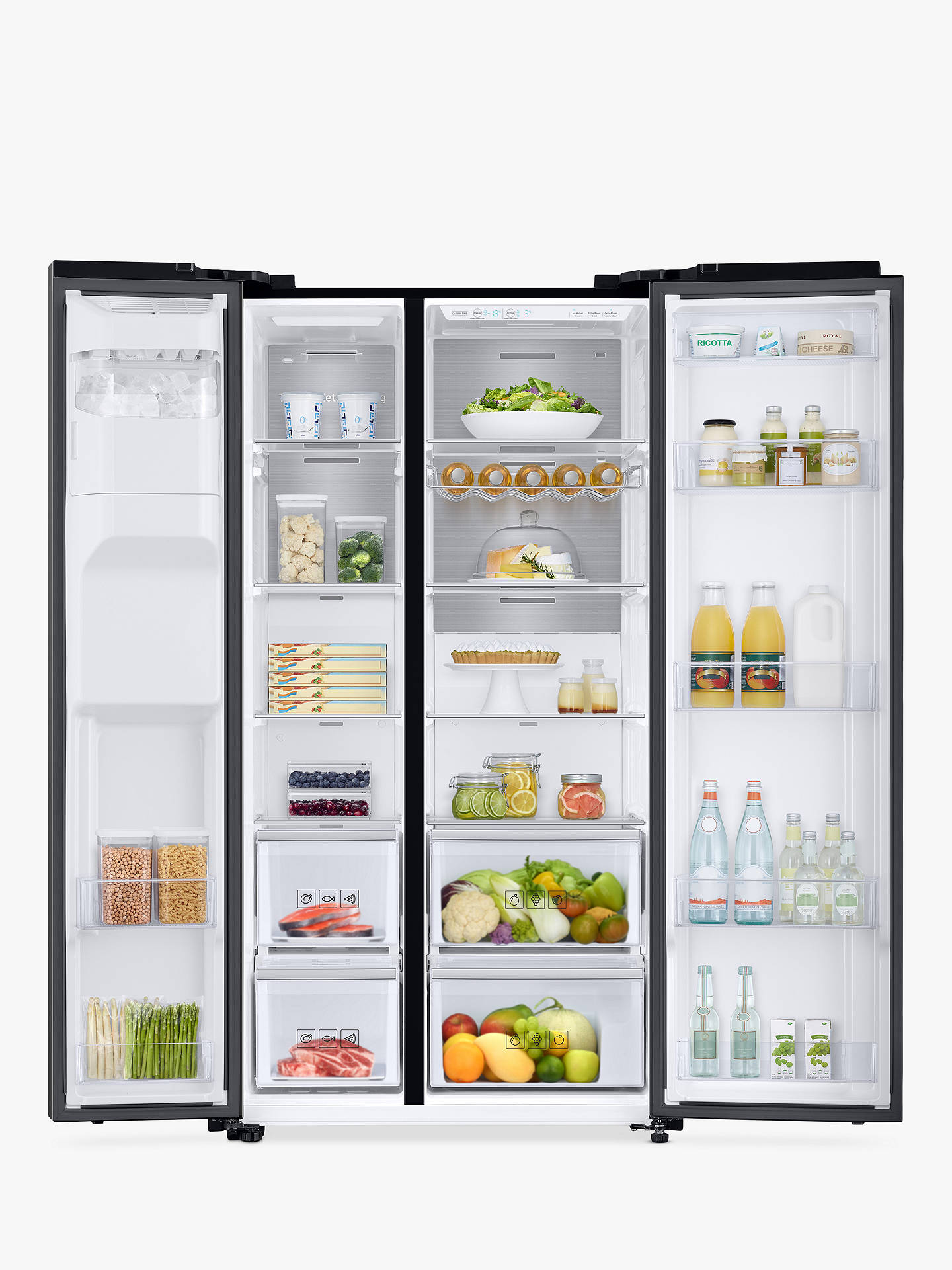 BuySamsung RS68N8240B1/EU Freestanding American Style Fridge Freezer, A+ Energy Rating, 91cm Wide, Black Online at johnlewis.com