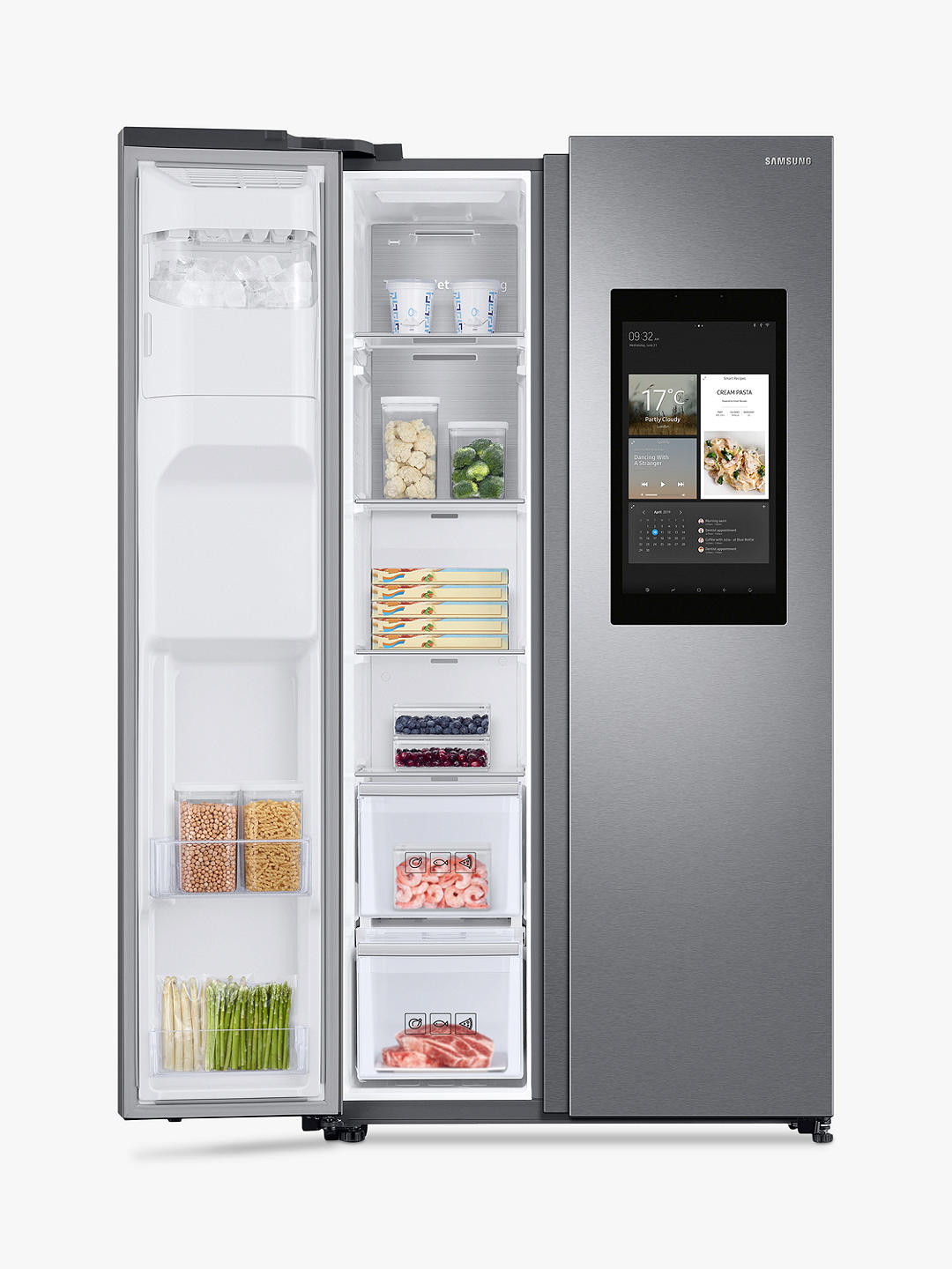 Buy Samsung RS68N8941SL/EU American-Style Freestanding 65/35 Fridge Freezer, A++ Energy Rating, 91cm Wide, Silver Online at johnlewis.com