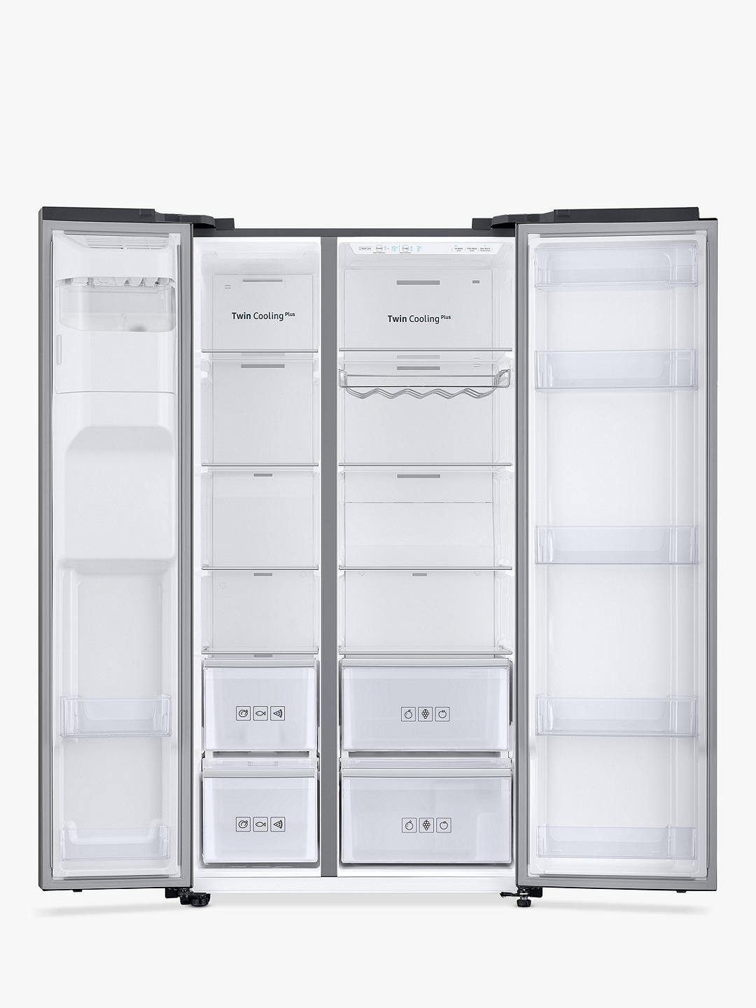 Buy Samsung RS68N8230S9 American-Style Freestanding 65/35 Fridge Freezer, A+ Energy Rating, 91cm Wide, Silver Online at johnlewis.com