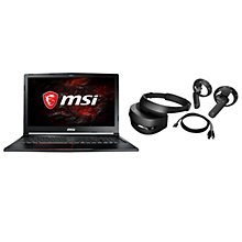 Buy MSI GE63VR 7RF Raider Gaming Laptop, Intel Core i7, 16GB RAM, NVIDIA GTX 1070, 1TB HDD, 128 GB SSD, & HP Mixed Reality Headset, Black Online at johnlewis.com