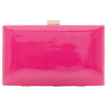 Buy Dune Brocco Patent Clasp Clutch Bag, Fuschia Online at johnlewis.com