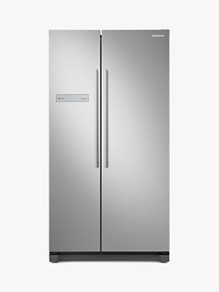 Samsung RS54N3103SA Freestanding 65/35 American Fridge Freezer, Silver
