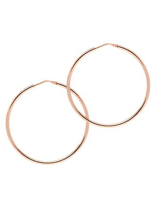The Hoop Station La Chica Latina Small Hoop Earrings, 4.2cm, Rose Gold