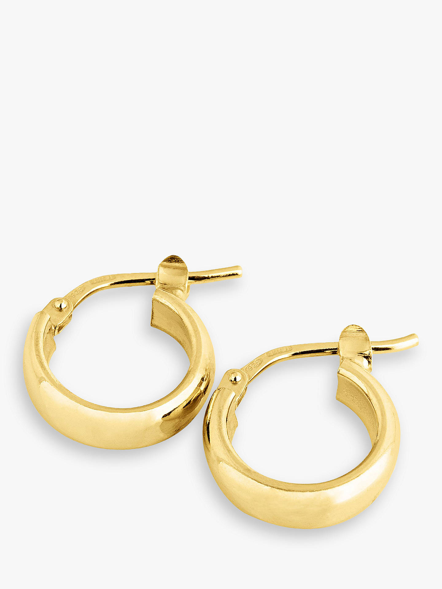 fb40da07b Buy The Hoop Station La Elba Huggie Small Hoop Earrings, Gold Online at  johnlewis.