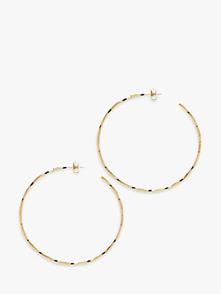 The Hoop Station La Lago Di Como Large Hoop Earrings, Gold