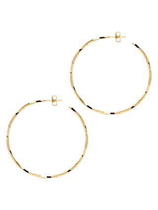 The Hoop Station La Lago Di Como Medium Hoop Earrings