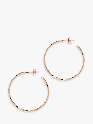 The Hoop Station La Lago Di Como Small Hoop Earrings, Rose Gold