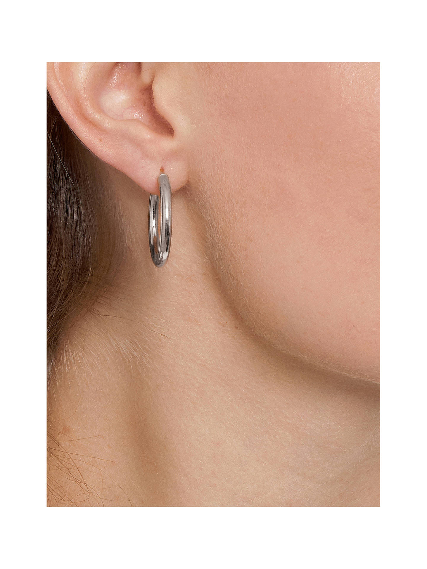 BuyThe Hoop Station La Napoli Medium Hoop Earrings, Silver Online at johnlewis.com