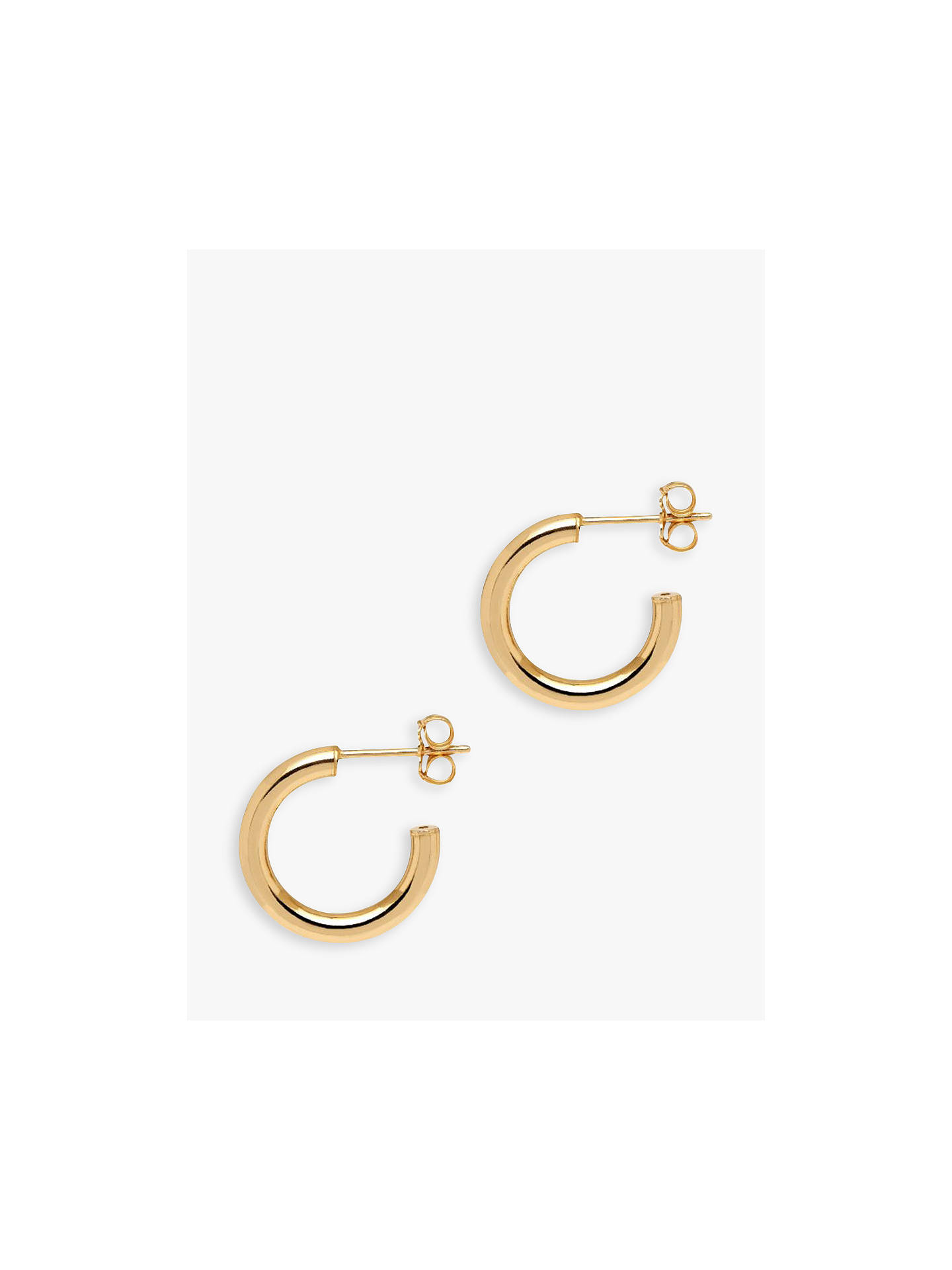 BuyThe Hoop Station La Napoli Mini Hoop Earrings, Gold Online at johnlewis.com