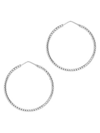 The Hoop Station La Roma Diamond Cut Small Hoop Earrings