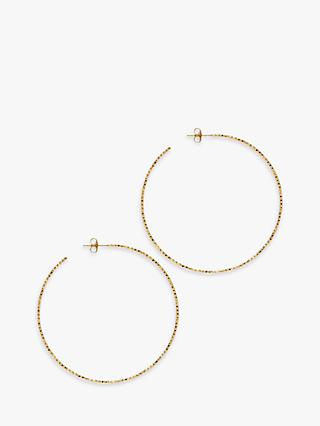 The Hoop Station La Sardegna Large Sparkling Chiselled Hoop Earrings