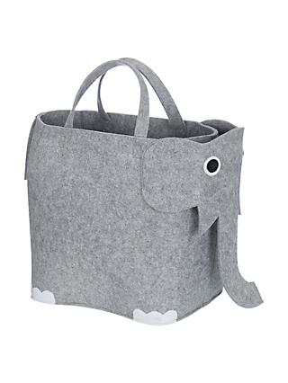 little home at John Lewis Elephant Felt Storage Bin Grey  sc 1 st  John Lewis & Childrenu0027s Storage u0026 Toy Boxes | John Lewis