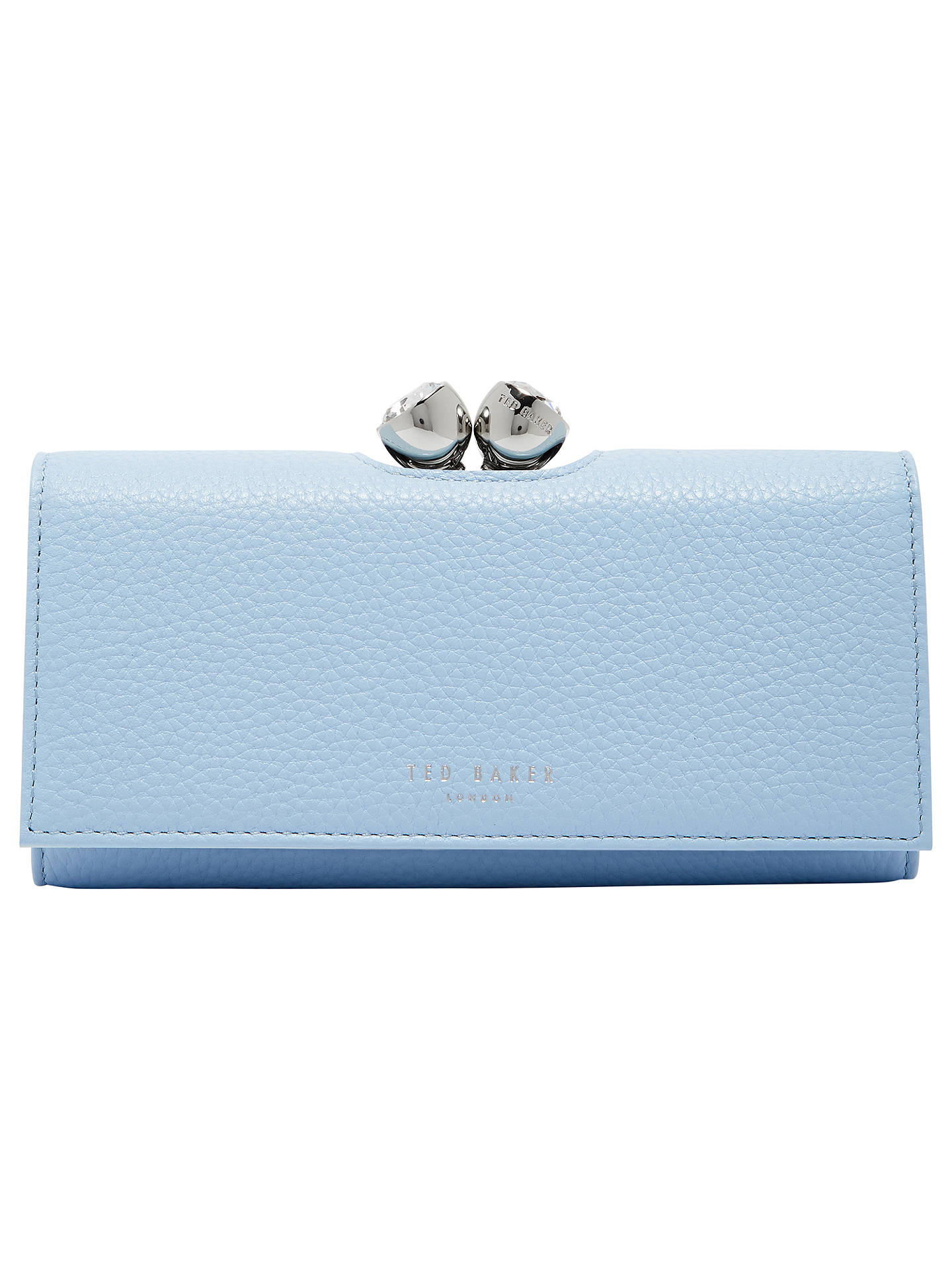 9be6f6c5a0 Buy Ted Baker Muscovy Leather Matinee Purse, Pale Blue Online at  johnlewis.com ...