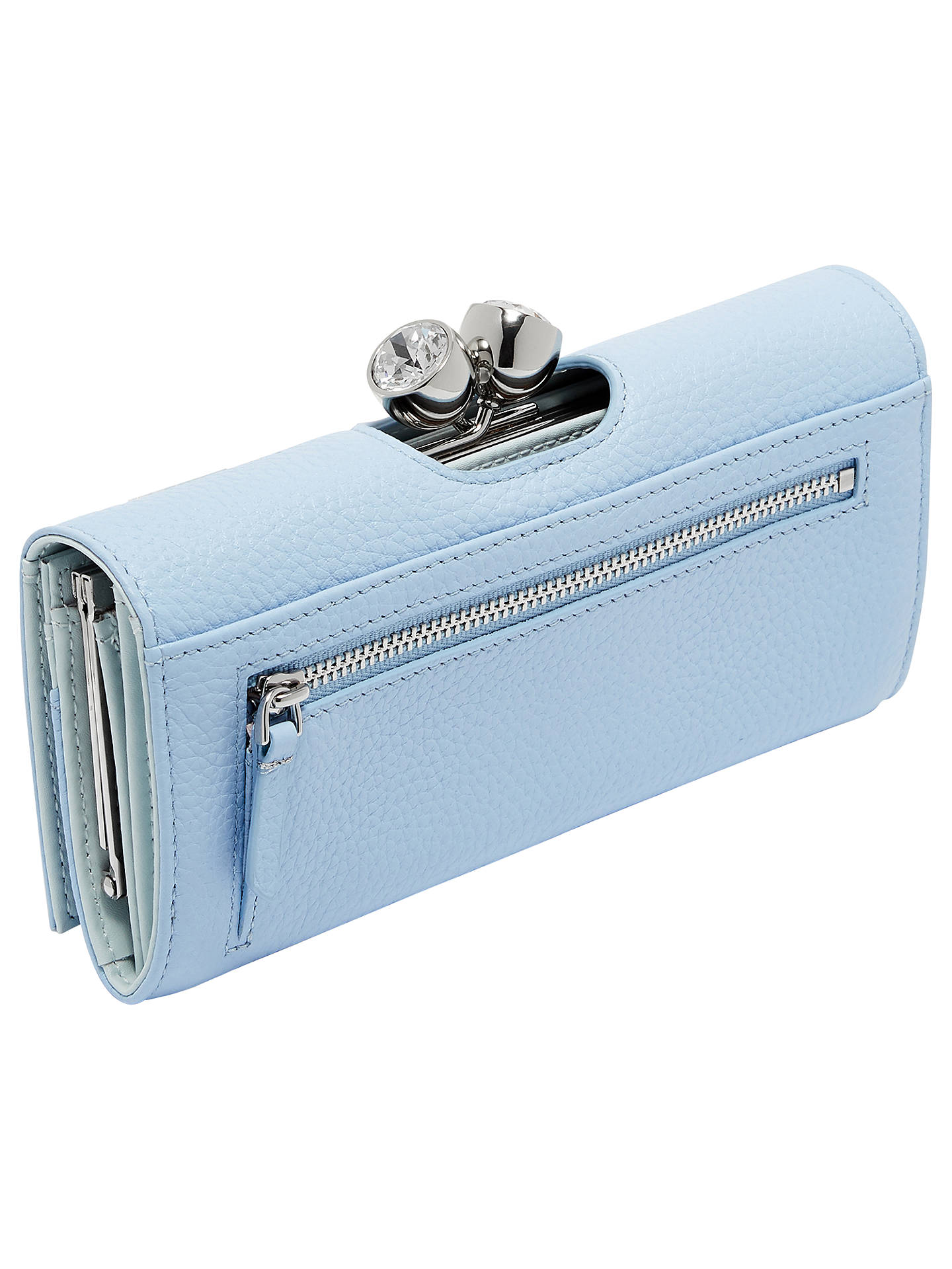 3a3ac1015a ... Buy Ted Baker Muscovy Leather Matinee Purse, Pale Blue Online at  johnlewis.com ...