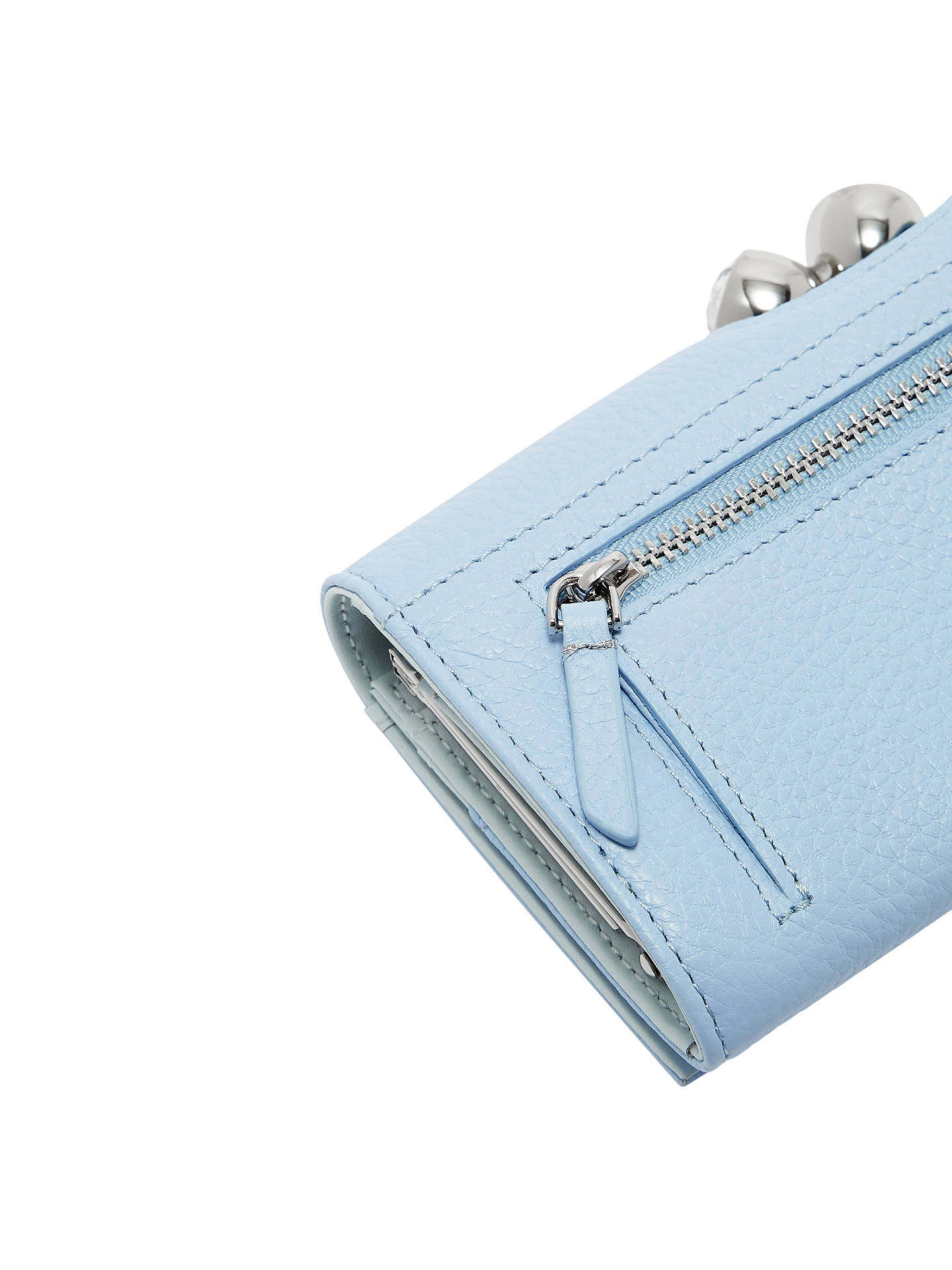 efe561d669 ... Buy Ted Baker Muscovy Leather Matinee Purse, Pale Blue Online at  johnlewis.com