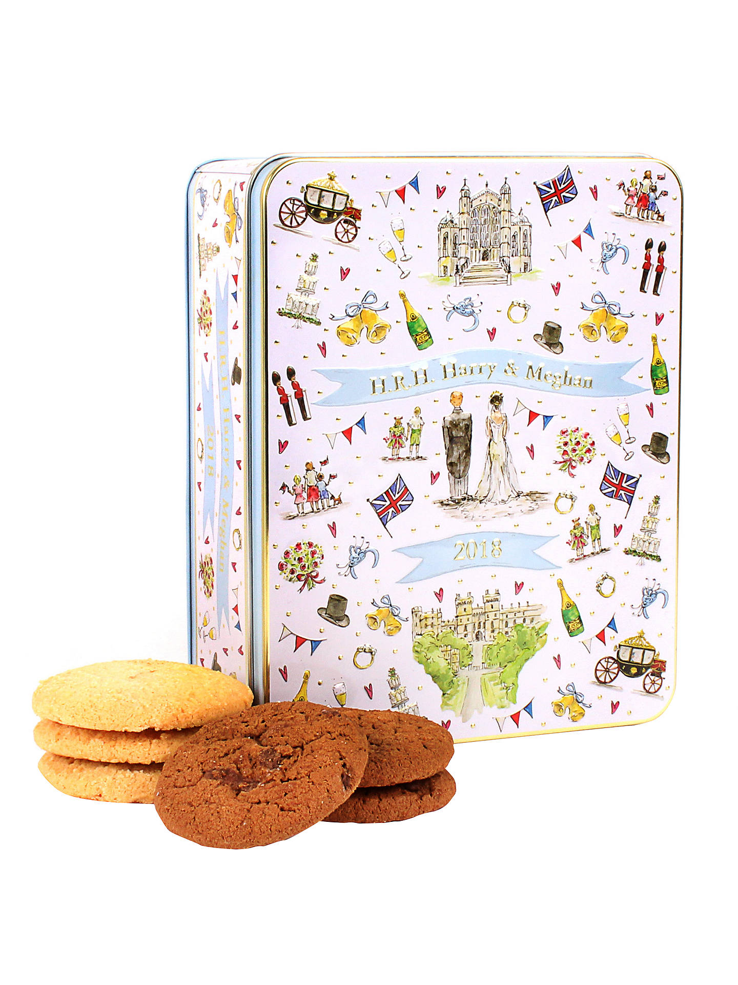 Buy Milly Green Harry & Meghan Royal Wedding Biscuit Tin, 400g Online at johnlewis.com