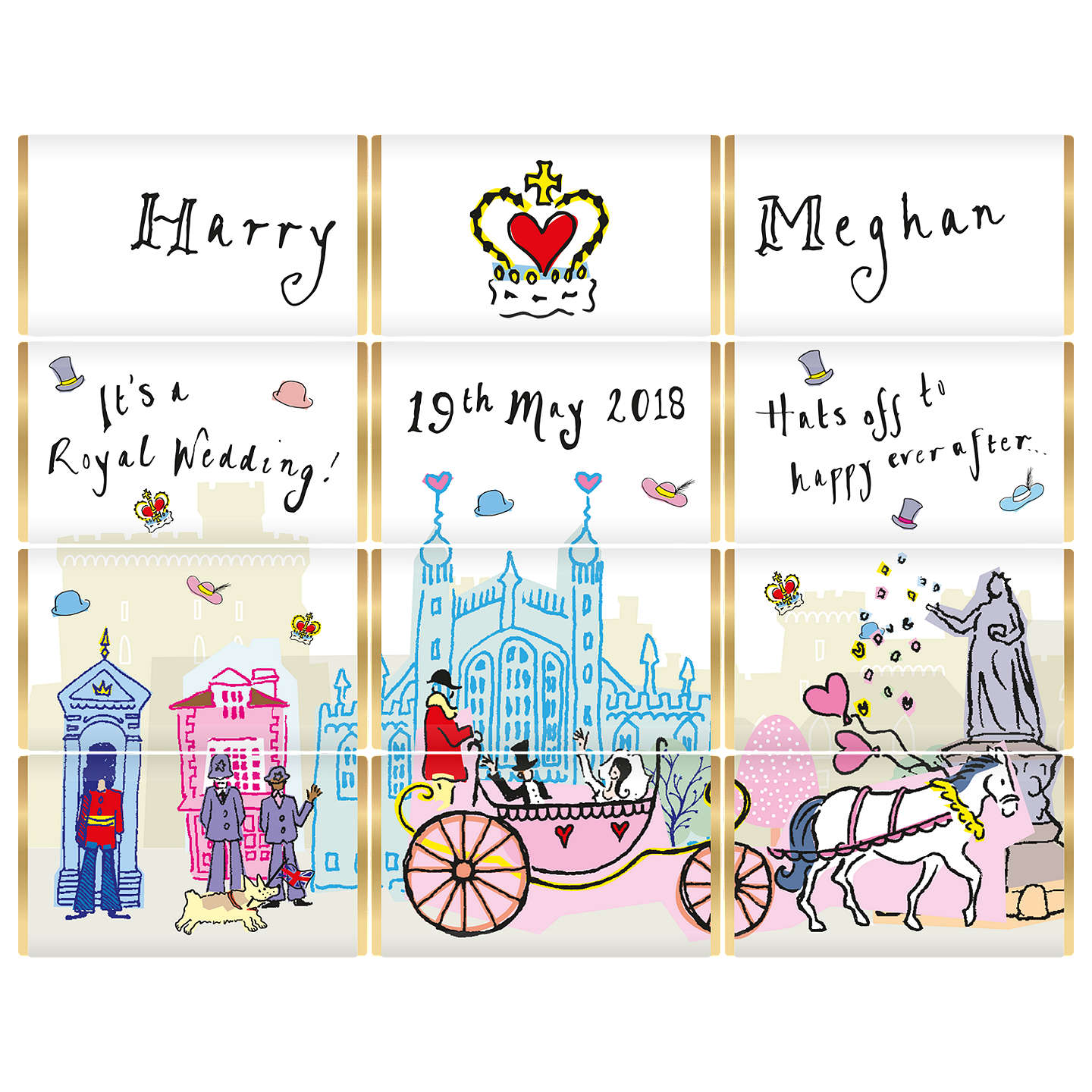 House of Dorchester Harry & Meghan Royal Wedding Chocolate Slims ...