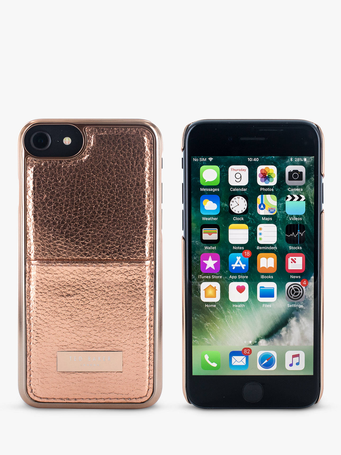 BuyTed Baker KORRII Case With Card Slot for iPhone 6/7 and 8, Rose Gold Online at johnlewis.com
