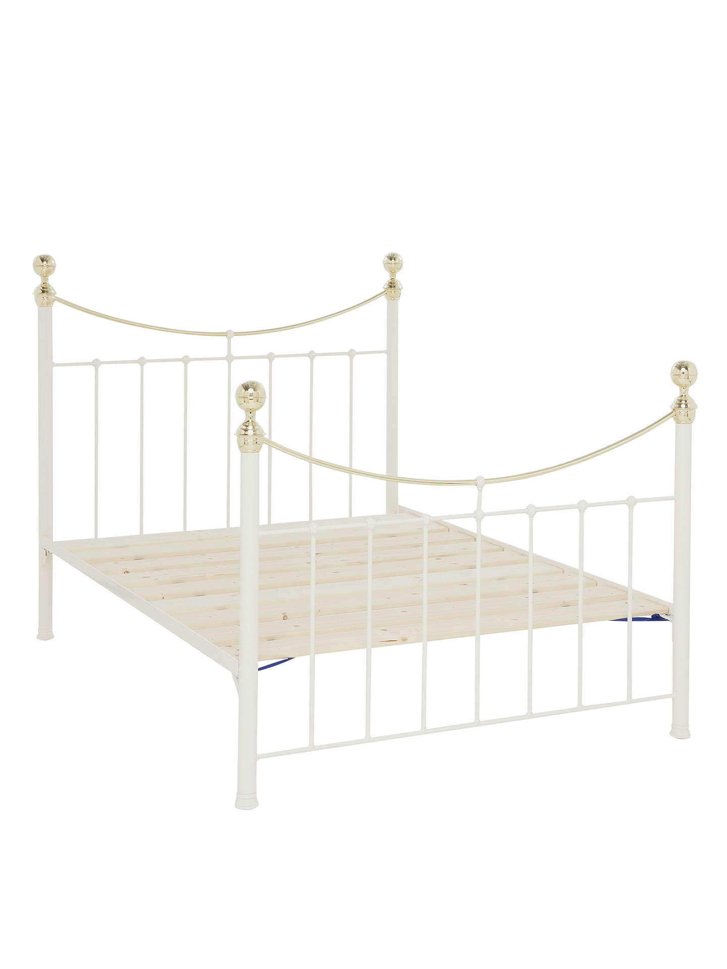 Wrought Iron And Brass Bed Co. Victoria Bed Frame, King Size, Ivory ...