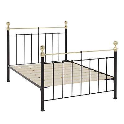 Wrought Iron And Brass Bed Co. Albert Bed Frame, Super King Size, Black