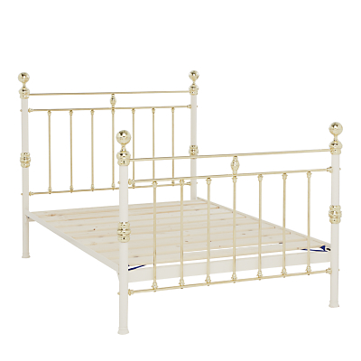 Wrought Iron And Brass Bed Co. George Bed Frame, King Size, Ivory
