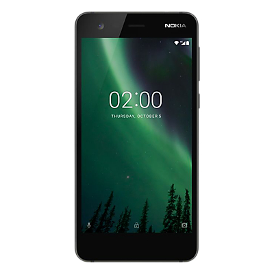 Image of Nokia 2 Smartphone, Android, 5, 4G LTE, SIM Free, 8GB, Black
