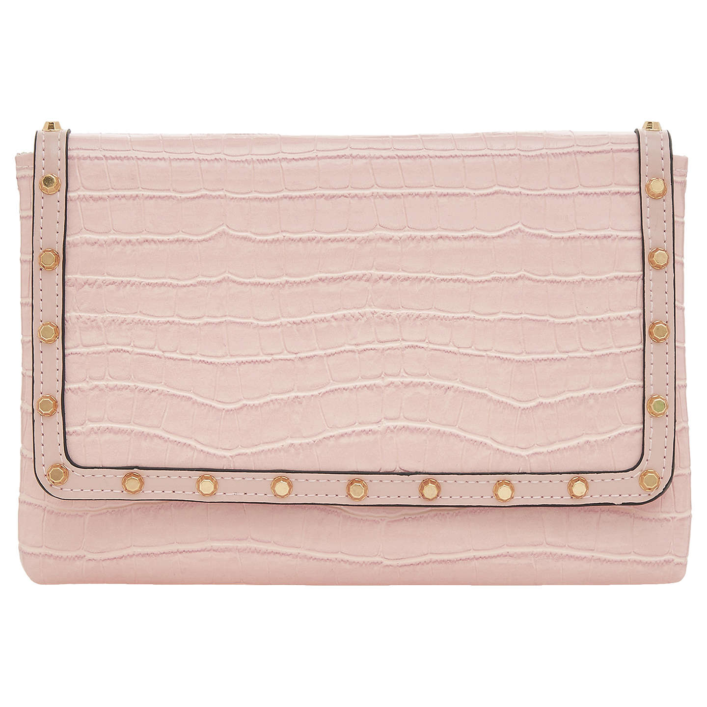 Dune Borriss Stud Clutch Bag, Blush by Dune