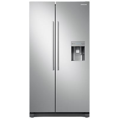 Samsung RS52N3213SA American-Style Fridge Freezer, A+ Energy Rating, 91cm Wide, Clean Steel