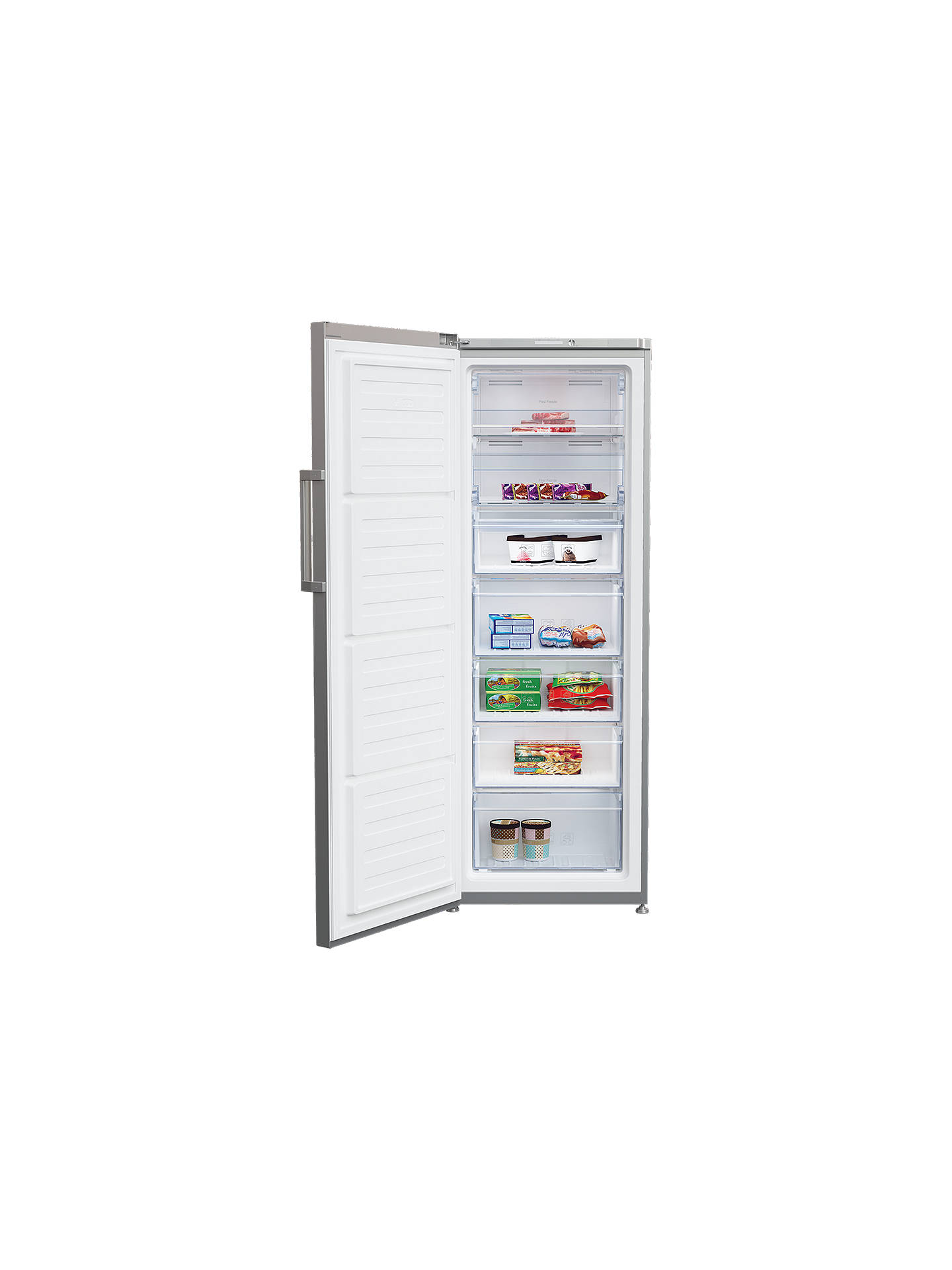 BuyBeko FFP1671S Tall Freezer, A+ Energy Rating, 60cm Wide, Silver Online at johnlewis.com