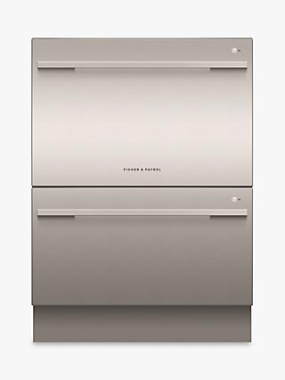 Fisher & Paykel DD60DDFHX9 Double DishDrawer Integrated Dishwasher, Stainless Steel