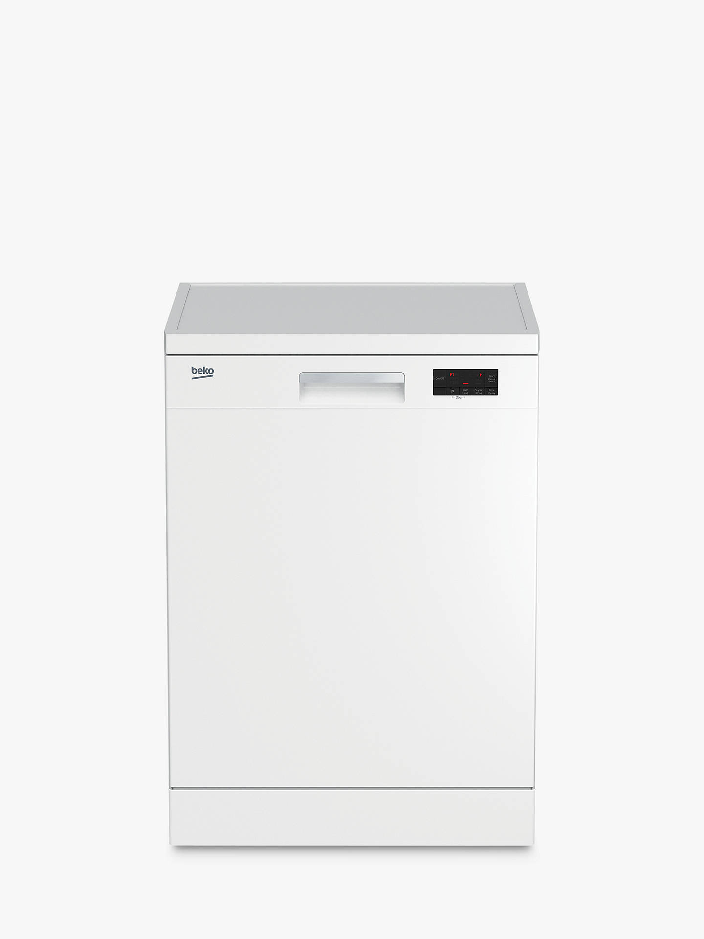 173912ea59d Buy Beko DFN15J10W Freestanding Dishwasher, White Online at johnlewis.com  ...